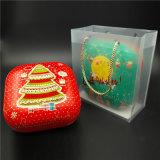 مربّع يشكّل طعام قصدير/معدن صندوق لأنّ هبة يعبر ([س001-ف9])