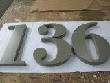 Из матового полированного металла Non-Illuminated Eletroplated покрытием из нержавеющей стали 3D логотип письмо подписать