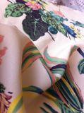 花の印刷された女性夏の服のシフォンファブリック