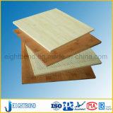 Panneau en aluminium de nid d'abeilles des graines en bois décoratives pour le revêtement externe