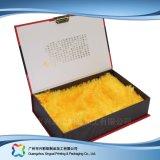 Rectángulo de empaquetado de papel rígido de lujo del regalo/del alimento/del vino (xc-hba-001)