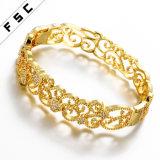 Горячим браслет женщины диаманта CZ ювелирных изделий шарма сбывания покрынный золотом
