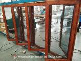 Foshan-Hersteller-Qualitäts-hölzernes Korn-Aluminiumfenster mit Moskito-Bildschirm