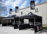 Tenda e bandierina del baldacchino della visualizzazione di promozione di sublimazione della tintura di alta qualità