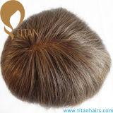 Toupee francese pieno del merletto del sistema dei capelli del punto legato mano