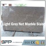 カスタマイズされたサイズの中国の薄い灰色の純大理石の台所平板