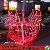 Indicatore luminoso di natale giallo della corda di motivo della sfera del PVC del LED 2.5m per la decorazione esterna