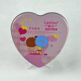Aduana del corazón de forma de la lata del chocolate, caramelo de embalaje de regalo de San Valentín caja de la lata con forma de corazón
