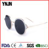 Ynjn redondo de metal de la Moda Gafas de sol Lentes de colores claros (YJ-F83821)