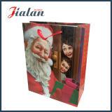 Sac de papier bon marché stratifié mat de Noël de promotion de modèle fait sur commande de logo