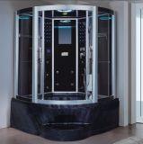 sauna nebulosa do vapor do preto do setor de 1350mm com Jacuzzi (AT-GT0201F)