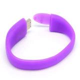 Heißer Verkauf kundenspezifisches USB-Plattewristband-Armband USB-Blitz-Laufwerk