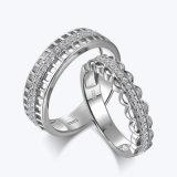 본래 빈 박아 넣어진 다이아몬드 한 쌍 반지