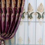 Tela de cortina europea respetuosa del medio ambiente del estilo del bordado del poliester