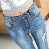 China-Fertigung, die Denim Jeans der Form-Entwurfs-Dame verkauft