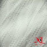 여자 의복을%s 순수한 백색 자카드 직물 폴리에스테 시퐁 직물