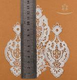 Merletto chimico solubile in acqua del testo fisso del merletto del pizzo a trama grossa del collare di Applique per l'indumento femminile