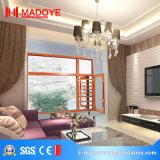 Hölzerne Farben-Aluminiumprofil-Fenster mit chinesischen Spitzenmarken-Befestigungsteilen