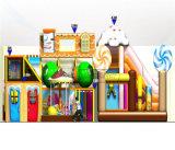 Campo de jogos interno dos miúdos temáticos dos doces do divertimento do elogio