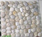 Jardin naturel de cailloux blancs de pierre et marbre noir de cailloux Stone
