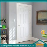 Texture à l'intérieur de la porte intérieure en bois moulé moulé composée de 6 panneaux