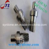 Вал шестерни CNC подвергая механической обработке стальной