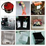 Cubetas plásticas acrílicas desobstruídas para flores
