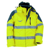 Chaqueta reflexiva impermeable de la seguridad de la seguridad del alto invierno de la visibilidad