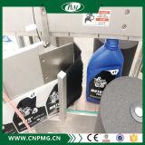 Máquina de etiquetado lateral doble de encargo para la botella redonda