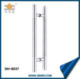La empuñadura de puerta de acero inoxidable con empuñadura de satén medias (DH-8037)
