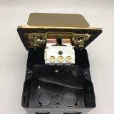 Kupferlegierung-Kasten 120*120mm knallen oben elektrische wasserdichte Fußboden-Kontaktbuchse