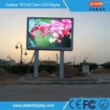 Cabina fija de la cartelera de la pared video a todo color LED de HD para al aire libre
