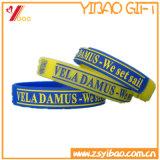 Wristband colorido feito sob encomenda por atacado do bracelete do silicone para a promoção