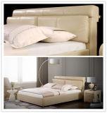 Weiches Bett des Shunde-Hauptmöbel-König-Size Nice Leather Double