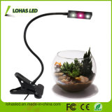 3W Full Spectrum LED Grow Light Nouveau design USB Flexible Table Lamp avec Clip LED Grow Light pour plantes en croissance