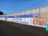 Рекламировать знамя сетки графиков загородки конструкции баррикады