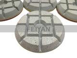 Tampone a cuscinetti per lucidare asciutto di superficie del diamante per il pavimento di calcestruzzo