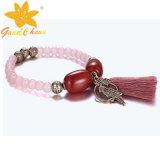 SMB-16120218 최신 형식 분홍색 수정같은 돌 보석 UK 팔찌