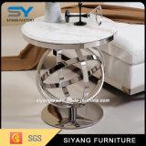 Mobiliário moderno café em mármore mesa lateral da mesa