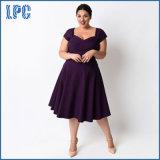 XL 5XL taille plus petite robe sexy violet