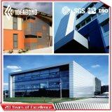comitato di alluminio della decorazione del rivestimento blu-chiaro del PE di 1220*2440mm per l'interiore