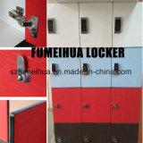 로커룸 방수 열쇠가 없는 자물쇠 3개의 층 내각