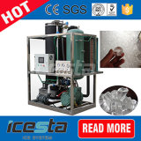 Máquina de hielo de tubo de gran capacidad para tomar bebidas 20 toneladas/día