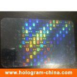 Hologramme transparent recouvert pour la carte d'identification