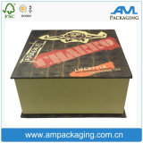 Rigid Custom Cardboard Coated Paper Packaging Hardcover Cigar Gift Box
