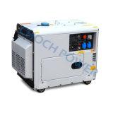 熱い販売100%の銅線5.5kVAの発電機携帯用力の産業ディーゼル無声発電機