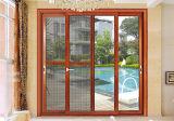 Color de cristal de aluminio del blanco de la puerta deslizante del apilador y del patio