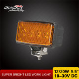 Lampada fuori strada del lavoro di agricoltura di 20W LED dell'indicatore luminoso di alluminio 5.5 del lavoro ''