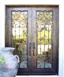 Quadratische Spitzensicherheits-schöne Eisen-Einstiegstür für Haus