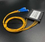Divisore ottico del PLC del contenitore di ABS di telecomunicazione 1X4 di Gpon del cavo di goccia della fibra